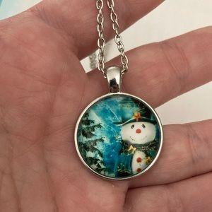 Jewelry - Snowman Christmas tree necklace